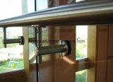 De Regelbare Steun van het roestvrij staal voor de Balustrade van het Traliewerk van het Glas