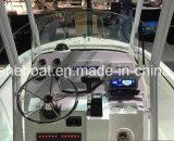 Bateau de vitesse de fibre de verre avec le hors-bord