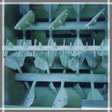 Tipo dobro horizontal equipamento de mistura da pá do eixo da alimentação