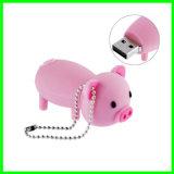 실리콘 만화 플래시 디스크 돼지 USB Pendrive