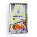 Wegwerftellersegment-Aluminiumfolie-Nahrungsmittelbehälter
