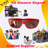 中国2016 2 Layers Red ABS Frame Plastic Clear Stylish Passive Circular Polarized 3D Television及びCinema Glasses