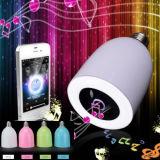 異なったカラーのDimmable BluetoothのスピーカーLED音楽球根