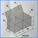 Покрынная PVC гальванизированная сетка Gabion корзины утеса