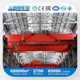 Grúa de arriba de la viga doble de 50 toneladas, grúa del EOT, grúa del taller