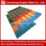 Hoja de acero acanalada del material para techos para el acero del material de construcción
