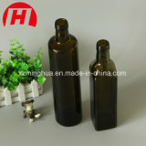 250ml 500ml 750ml 1000mlのこはく色の規則的な正方形のオリーブ油のガラスビン