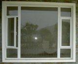Дешевое подгонянное окно Casement PVC стеклянное для спальни (PCW-027)