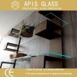 6 prateleira/cremalheira do banheiro de -12 milímetros que flutua o vidro Tempered de vidro do chuveiro de /Interior