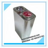 poder de estaño de plata del metal 1L con la tapa del Presionar-Estilo