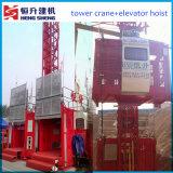 Gru della costruzione della Doppio-Gabbia da vendere da Hstowercrane