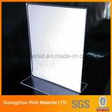 Stand acrylique de menu/support en plastique de menu d'étalage pour la publicité