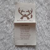 etiquetas 100%Cotton para a impressão de Endfolded dos acessórios de roupa