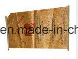 sac tissé par pp stratifié de papier de 25kg Brown emballage pour l'alimentation d'emballage, la colle,