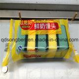 Máquina de embalagem do sabão com alimentador