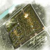Wiedergabe-Foto der Luftaufnahme-Grün-Stadt-Planungs-3D