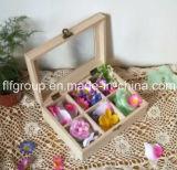 Caixa de empacotamento da madeira de pinho da caixa da caixa de presente da caixa do compartimento da caixa do chá da madeira contínua