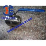 Robinet à tournant sphérique modifié par 2PC d'amorçage d'acier inoxydable d'API/DIN