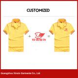 Projetar suas próprias camisas de T do polo com logotipo do bordado da impressão para a promoção (P118)