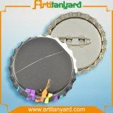 Divisa de aluminio del botón de la promoción con insignia de la impresión