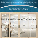 Portes coulissantes cassées en aluminium de passerelle de Huiye de périodes