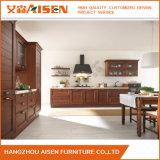 Gabinetes de cozinha da madeira contínua do armário da cozinha