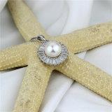 輝いたジルコンのビーズの自然な淡水の真珠の宝石類のペンダント