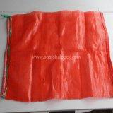 Saco poli vermelho do engranzamento para laranjas e batatas de empacotamento