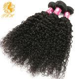 Malaysian Virgin 머리 4bundles 아프로 비꼬인 곱슬머리 8A 급료 처리되지 않은 Malaysian 비꼬인 곱슬머리 사람의 모발 직물
