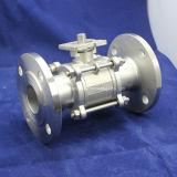 API válvula de bola de acero inoxidable 3PC con ISO5211 almohadilla de montaje