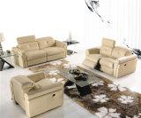 Комплекты софы мебели неподдельной кожи