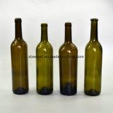 Bottiglia di vetro antica del vino di verde 750ml (NA-006)