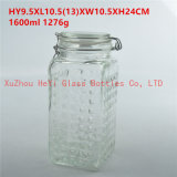 1700mlガラスシールの瓶、ガラスふたが付いている食糧容器
