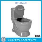 Suporte de escova cerâmico da forma decorativa original da bacia de toalete