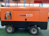 Motore diesel che guida il compressore d'aria rotativo portatile della vite