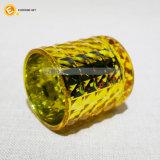 De kleurrijke Houder van de Kaars van het Glas van de Textuur met Plateren