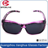 Clips ovales de Sunglass de la vendimia en la lente de ciclo del negro de la fama de Brown del senderismo de la manera de gran tamaño de las gafas de sol que viaja
