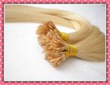 Extensão humana brasileira da queratina de Remy do cabelo do Virgin