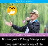 Microfono portatile di karaoke di Bluetooth di eco di riverbero caldo del suono