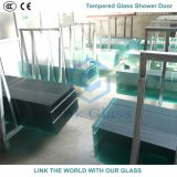シャワー室のための6mmのシルクスクリーンの印刷の緩和されたガラス