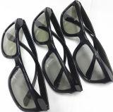Monocle 3D polarisé circulaire passif en plastique pliable d'armature de noir de mode de prix de gros de gros d'usine de la Chine pour le cinéma polarisé par Circualr et la TV polarisée passive