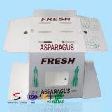 O plástico cobre caixas da agricultura