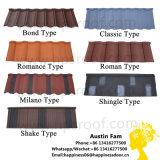 Mattonelle di tetto rivestite del metallo del materiale da costruzione della pietra variopinta durevole del tetto per protezione della parte superiore del tubo flessibile