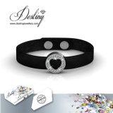 Het Kristal van de Juwelen van het lot van de Armband van het Leer van het Hart Swarovski