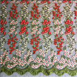 Color mezclado Latest Design Pretty Embroidery Fabric para Garment