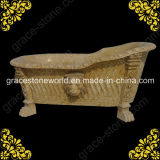 Marble Carved Bath Tub for Bathroom