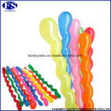 De in het groot Goedkope Ballon van het Latex van de Aard Veelkleurige Verdraaiende Spiraalvormige