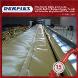 Materiale materiale rivestito del vinile del tessuto del poliestere del vinile del PVC dall'iarda