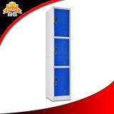 Drei Reihe-Stahlschließfach für Büropersonal und Schule