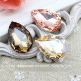 눈물 하락 수정같은 유리 구슬 날카로운 뒤 모조 다이아몬드 (TP-127 눈물 하락 10*14mm)